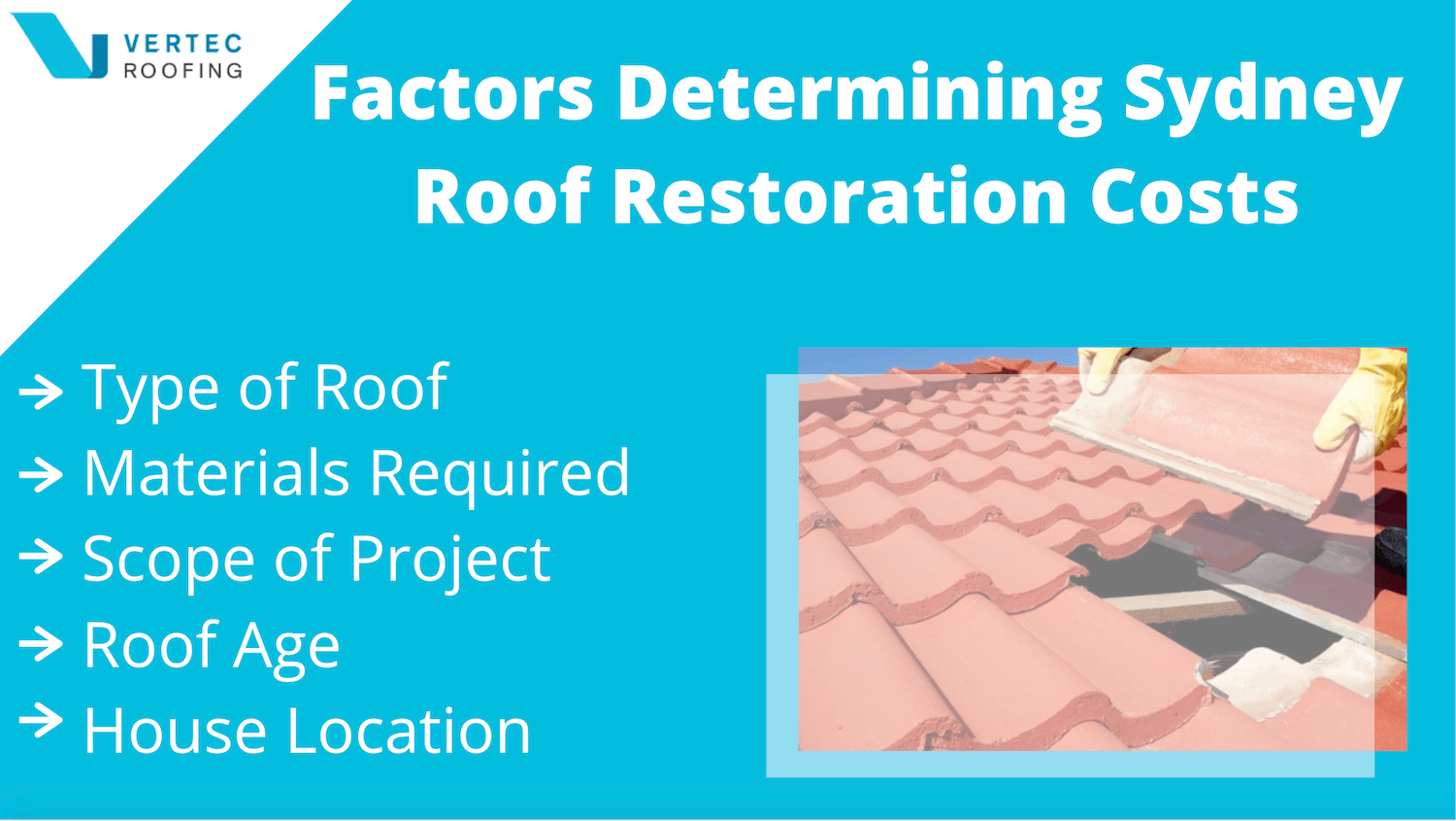 factors affecting the cost of roof restoration in sydney